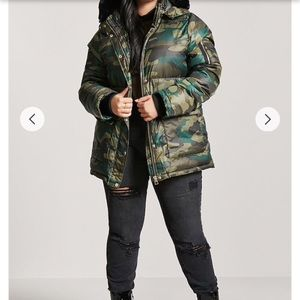 Camo Puffer Jacket (New)